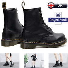 Dr. Martens 1460 Unisex 8 Lace Up Leather Boots Shoes Doc Martins - Soft NAPPA