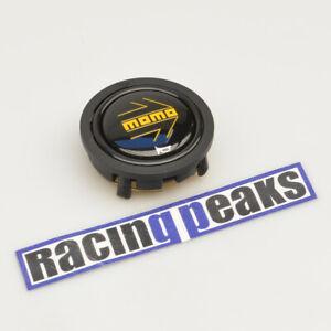 MOMO glossy black yellow logo steering wheel horn button racing tuning 55mm