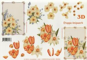 Daffodils & Tulips - 2 A4 Sheets Le Suh non-die-cut decoupage 416939