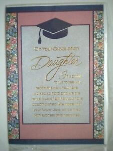 """ON YOUR GRADUATION, DAUGHTER"" GREETING CARD + ENVELOPE"
