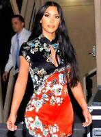 Roberto Cavalli Spring 2003 Vintage Cheongsam Floral Dress IT 40 42 US 4 6 SMALL