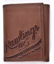 Rawlings Fielders Choice Tri-Fold Brown Leather Wallet RS10019 >NEW<