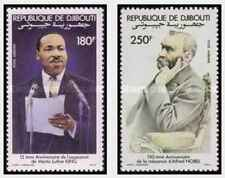 Timbres Personnages Djibouti PA186/7 ** lot 25933