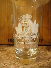 Charlotte NC Oktoberfest 2011 Beer Glass Toasted Head AWESOME Tasters Glass