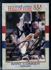 Bart Conner signed autographed Auto 1991 Olympic Hof card #82 Gymnastics Gold