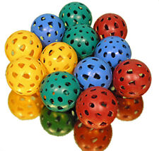 12 Brightly Coloured Teamster Balls - Red, Green, Yellow & Blue Perforated Balls