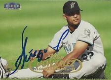 Alex Gonzalez Florida Marlins 1998 Fleer Tradition Signed Rookie Card