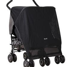 Koo-di Pack-it Sun & Sleep Double Stroller Cover - Black