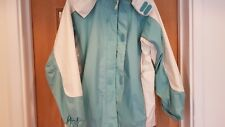 LAND'S END WATER RESISTANT PEPERMINT & CREAM JACKET SIZE MEDUIM
