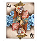 Ace2 by Gabe Londis Sugar Skulls Poker Playing Cards Tattoo Canvas Art Print