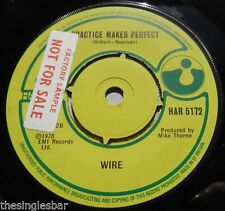 "Wire - Outdoor Miner UK 1978 Harvest 7"" Single Factory Sample Company Sleeve"
