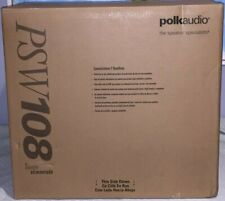 "Polk Audio PSW108 10"" Monitor Series Powered Black Subwoofer Speaker Specialist"