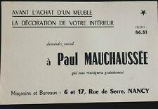 Ancien Buvard Décoration Intérieur Paul Mauchaussée Nancy