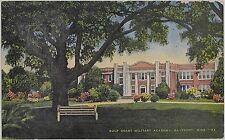 c1940s Gulf Coast Military Academy Gulfport Mississippi MS postcard view