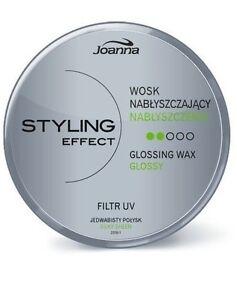 JOANNA STYLING EFFECT GLOSSING HAIR WAX SILKY SHEEN FILTR UV LONGLASTING