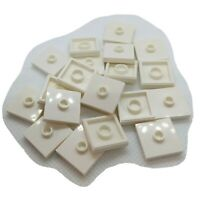 20x LEGO Part 23893 WHITE 2x2 Flat Tile with Groove & Center Stud Genuine Piece