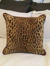 Ralph Lauren Aragon Iverness Leopard Fur Throw Pillow