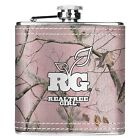 REALTREE GIRL PINK CAMO FABRIC WRAPPED STAINLESS STEEL HIP FLASK  - HUNTING GIFT