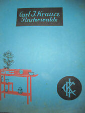 21363 Katalog Art Deco Jugendstil Möbel Kleinmöbel Carl Krause Finterwalde 1920
