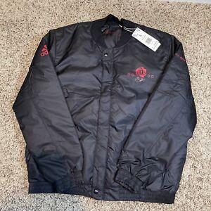 Adidas Derrick Rose Chicago Bulls Bomber Jacket New Mens Size L Black MSRP $160