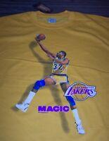 LOS ANGELES LAKERS MAGIC ERVING JOHNSON  #32 NBA BASKETBALL T-Shirt XL NEW