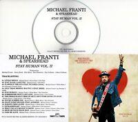MICHAEL FRANTI & SPEARHEAD Stay Human Vol. II 2019 UK 14-trk promo test CD