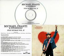 MICHAEL FRANTI & SPEARHEAD Stay Human Vol. II 2019 UK 14-trk promo test CD
