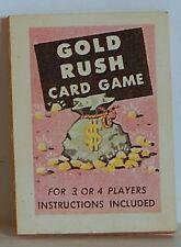 "VINT 1966 CRACKER JACK ""GOLD RUSH"" CARD GAME GOOD COND"