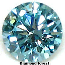 Loose moissanite fiery 1.00 ct 6.60 blue color Vs1 round brilliant cut NR LD EHS