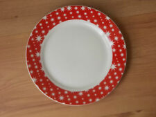 Waitrose tableware Christmas 2010 Porcelain 19cms Tea Plate Red/White Stars