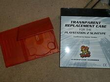 Sony Playstation 2 PS2 Slim consola de reemplazo caso Shell Mod Claro Naranja Nuevo!