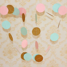 Round Circle Polka Dots Paper Garland Banner Bunting Party Decor Colorful Decor