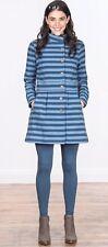 MATILDA JANE WOMANS Fall Breeze Blue Striped Button Front Jacket Size XLarge New