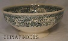 """VILLEROY & BOCH china BURGENLAND GREEN Footed Round Serving Bowl @ 7 3/4"""""""