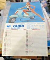 CALENDARIO 1969 M. GUIDI CAGLIARI - modello 00602 DONNE VESPA LAMBRETTA