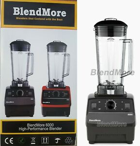 "NEW-2200W-BlendMore 6000-3HP Blender BPA-free 2L(64 oz)-w/ ""Vitamix Cookbook"""
