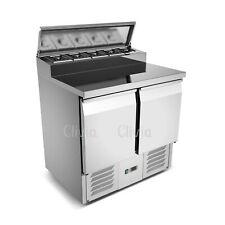 More details for clivia 250l refrigerated saladette stainless steel pizza and salad preparation