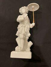 Vintage Fitz and Floyd Oriental Man With Parasol White Porcelain Figurine