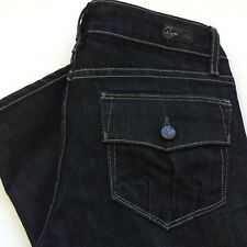 Paige Skyline Jeans Size 25 Flap Button Pocket Skinny Dark Wash Denim Women's
