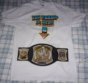 """WWE ~ John Cena ~ """" The Champ Is Here / Chain - Gang Soldier """" Wrestling T-Shirt"""