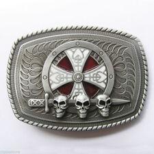 Celtic Shield Skull Sword Metal Belt Buckle