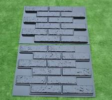 2 pcs PLASTIK MOLD CONCRETE PLASTER WALL STONE TILES FOR FORMS WALL #W14
