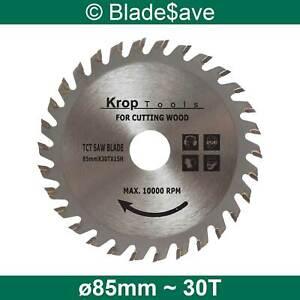 HiKOKI Circular Saw Blade Fine Cut TCT 85mm x 15mm x 30T by KROP (2 Pack)