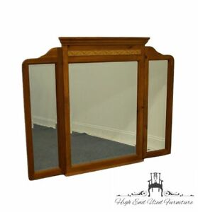 """KINCAID FURNITURE Solid Knotty Pine Country French 54"""" Tri-Fold Dresser Mirror"""