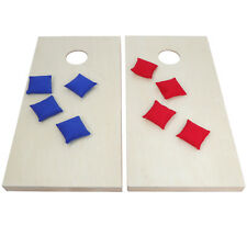 Easily Customized Foldable Wooden Cornhole Game W/ 2 Boards & 8 Beanbags