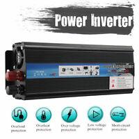 Auto 5000W Power Inverter 12V 220V Wechselrichter Spannungswandler USB-Ladegerät