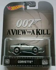 Hot Wheels Retro CORVETTE VIEW TO A KILL 007 JAMES BOND Panorama para matar
