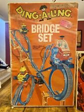 Vintage Topper DING A LING BRIDGE SET In Box W/ All 4 Robots Complete Toy RARE