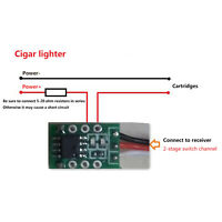 For RC Airplane Aircraft Boat Model Controller 1CH Mini LED K3 Relay Switch PWM