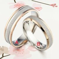 UK 18K Gold TWO TONE Men Women Matching Wedding Anniversary Bands Titanium Rings